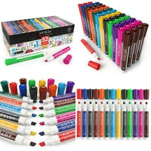 Arteza Dry Erase Markers Bulk Pack Of 52 with Chisel Tip 12 12 Colors