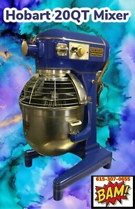 Hobart 20 Qt Dough Bakery Mixer With Whip Attachment 120v Safety Cage Timer
