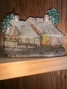 Hubley Cast Iron Cape Cod Cottage House Bookend Doorstop 444 Two Front Doors