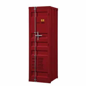 Acme Cargo Wardrobe Armoire With 1 Door In Red