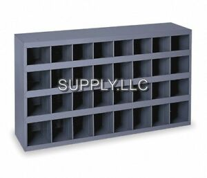Steel Bin Shelving 32 Pigeonhole Compartments Parts Fittings Nut Bolt Storage