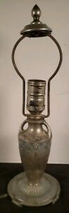 Vintage Moe Bridges Co Silver Lamp Great Size As Pictured