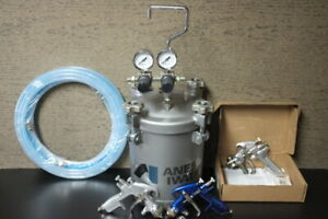 Anest Iwata Pressure Pot With Hoses And Spray Gun