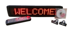 Single Line Indoor Red Led Programmable Scrolling Message Display Sign 17 x4