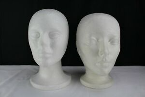 18 White Styrofoam Heads mannequins head Forms 3 Sizes displays