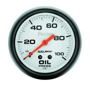 Auto Meter 2 5 8in Phantom Oil Pressure Gauge 0 100psi