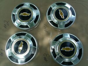 73 74 76 77 78 87 Chevy 1 2 Ton Truck Gm Dog Dish Hubcaps 2wd 10 1 2 1973 1987