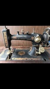 Treadle Singer Sewing Machine In Cabinet Antique