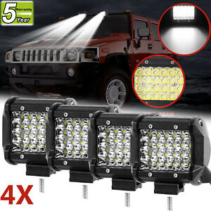 For Jeep Grand Cherokee 4inch 240w Cree Led Work Roof Lights Rack Fog Driving 4x
