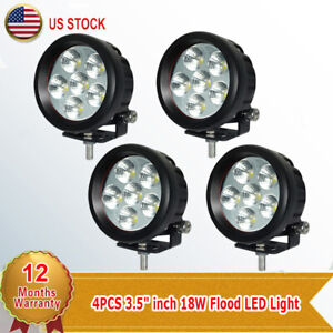 4x 3 5 18w Led Work Driving Flood Beam Light For Car Motorcycle 4x4 Suv Offroad