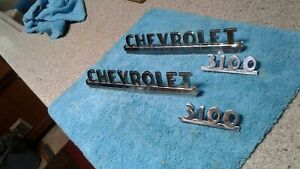 1940s 1950s Chevy Truck Parts Front Fender Emblem Badge Trim Original Vintage