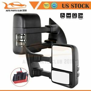 For 2008 2015 Ford F250 F350 F450 F550 Pair Fold Manual Signal Tow Mirrors