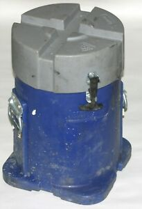 Security Dbs Cylindrical Oil Rig Drill Bit Round Shipping Storage Container Blue