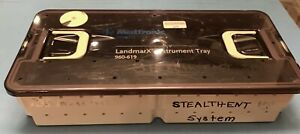 Medtronic Xomed 960 619 Landmarx Surgical Navigation Instrument Tray Ent 2 Trays