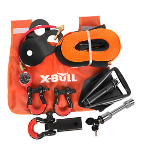 X Bull 11pcs Winch Recovery Accessory Snatch Pulley Block Bow Shackles 4wd Kit