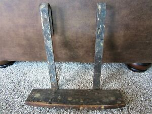 Primitive Wood Iron Homemade Buggy Truck Boat Hanging Step Painters Ladder Shelf