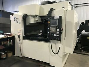2017 Makino Ps105 Cnc Vmc 41 X 20 14000rpm Ct40 Tsc 30 Tool 3500hrs