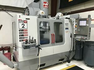 2004 Haas Vf 2ss Cnc Vmc 12000rpm Ct40 30hp 24 Tool Tsc Super Clean