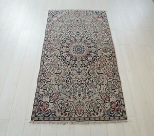 5 51x2 89ft Antique Hand Knotted Persian Tribal Area Rug Beige Vintage Rug