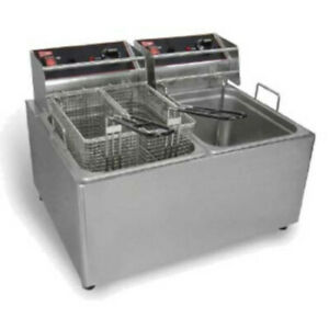 Grindmaster cecilware El2x15 Countertop Split Pot Electric Fryer 120v 60 1ph