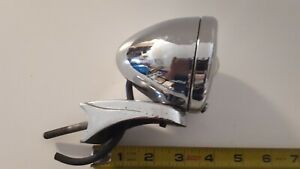 Vintage Reverse Chrome Back Up Light With Mount 1940s Gm Accessory Rat Hot Rod