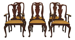 Lf47524ec Set Of 6 Henkel Harris Mahogany 110 Dining Room Chairs