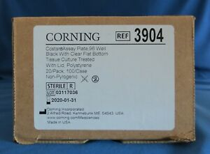 Pack Of 20 Corning Costar 96 Well Clear Flat Bottom Assay Plates With Lid 3904