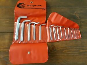 New Snap On Tools 15 Pc Sae Hex Key Allen Wrench Set With C 154 Kit Bag