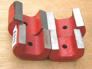 Lot Of 4 Alnico 5 Horseshoe Power Magnets Red 4 Oz 6 Oz