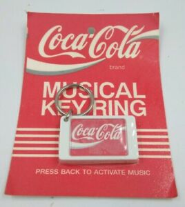 Coca-Cola musical keyring - RARE 1990 - Keychain old Coke brand Vintage Soda