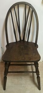 1930 Braced Bow Back Chair By Winchendon Furniture Co Maple W Mahogany Finish