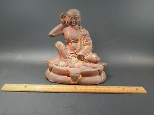 Unique Antique Metal Casting Model Of A Milarepa Buddha Tibet Or Nepal 6 3 8