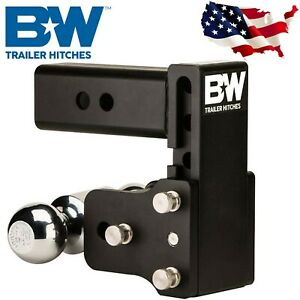 B W Hitches Ts10037b Tow And Stow Magnum Receiver Hitch Ball Mount