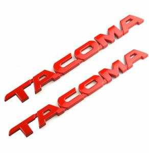 2x Red Tacoma For 2005 2015 Tacoma Door Tailgate Emblem Badge Sticker