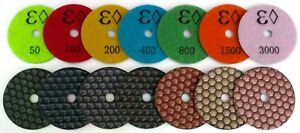 Premium Ultra shine 7 inch Dry Diamond Polishing Pads For Granite Concrete Stone