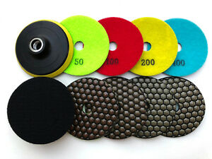 4 Dry Diamond Polishing Pads