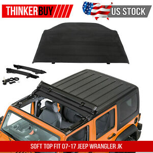 Soft Top W fold Back Sunroof Hard Top Cover Fit 07 17 Jeep Wrangler Jk 52450 35