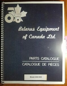 Belarus 400 420 Tractor Parts Catalog Manual 6 81 English French