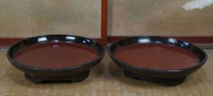 Antique Japanese Buddhist Temple Altar Offering Trays 1800s Japan Craft
