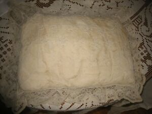 Vintage French Lace Baby Boudoir Pillow With Buttons
