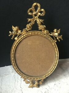 Vintage Gold Italy Italian Antique Cherubs Picture Frame Small Rare Hollywood