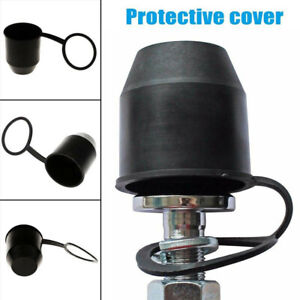 1xpvc Black Tow Bar Ball Towball Cover Cap Towing Hitch Trailer Protection Pl