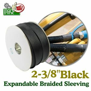 Hot Sell 2 3 8 Braided Expandable Loom Black Wire Harness Cover Sleeving Lot