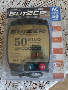 Blitzer Electric Fencer Ac Powered 50 Miles 2 Joule Low Impedance New
