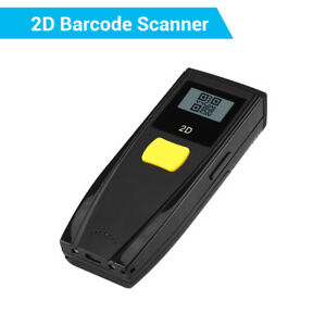 Mini Wireless Bluetooth 2d Qr Barcode Scanner Reader With Screen For Ios Android
