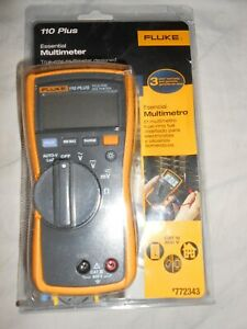 New Fluke Essential Multimeter 110 Plus 772343 Cat Iii Electrical Tests True rms