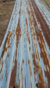 Rusty Coragated Metal Roofing Panels With Good Patina