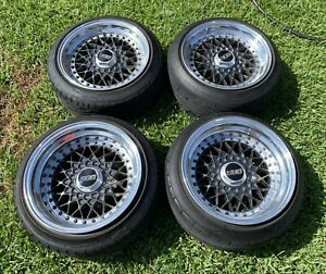 Bbs Rs 298 15in Staggered 5x114 3 3 Piece Wheels Ssr Rare Jdm Rare Work Real