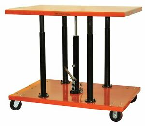 Bolton Tools Center Post Hydraulic Lift Table 1100 Lb Pt 10 2036