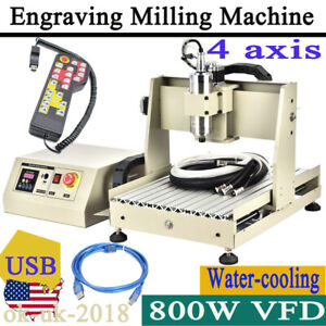4axis Cnc 3040 Engraving Drilling Machine Cutter Engraver Usb Port Router remote